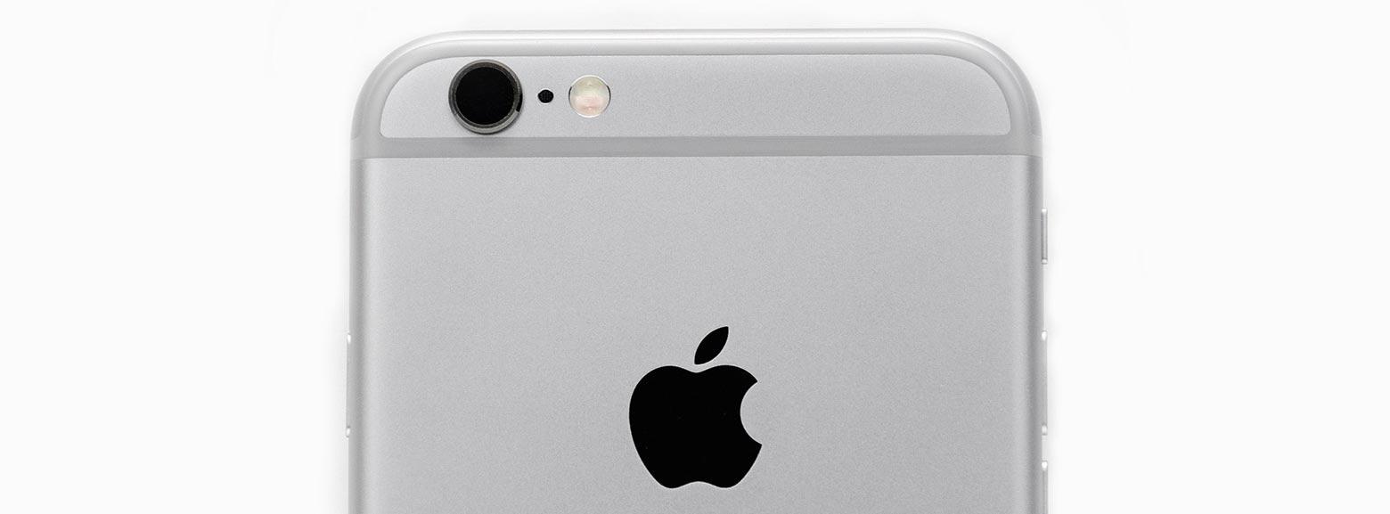 riparazioni iphone close up sulla fotocamera e mela apple