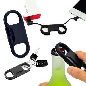 portachiavi con cavo di ricarica lightning per iphone, ipad, ipod e apribottiglie