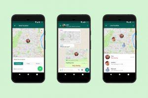 Screenshot della funzionalità whatsapp per condividere la posizione live