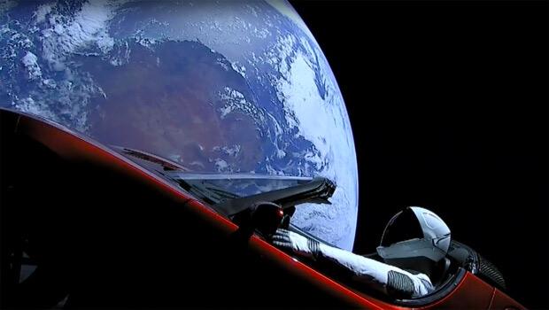 Roadster Tesla verso Marte